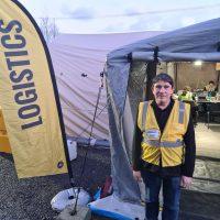 Paul at Westport EOC logistics tent