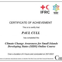IFRC SIDS Climate Change certificate