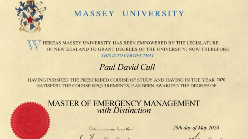 Master of Emergency Management Diploma