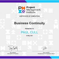 PMI Business Continuity certificate