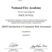 Q0843 Introduction to Community Risk Assessment certificate