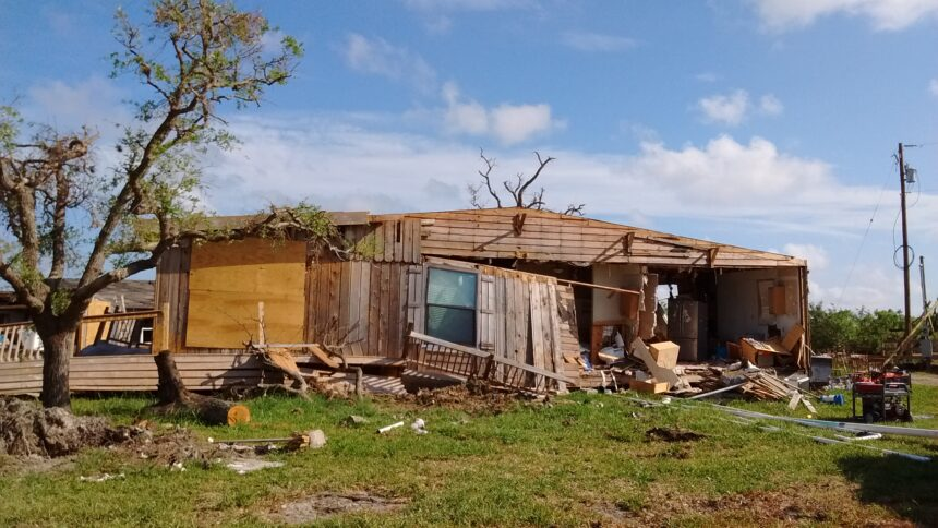 House destroyed by hurricane