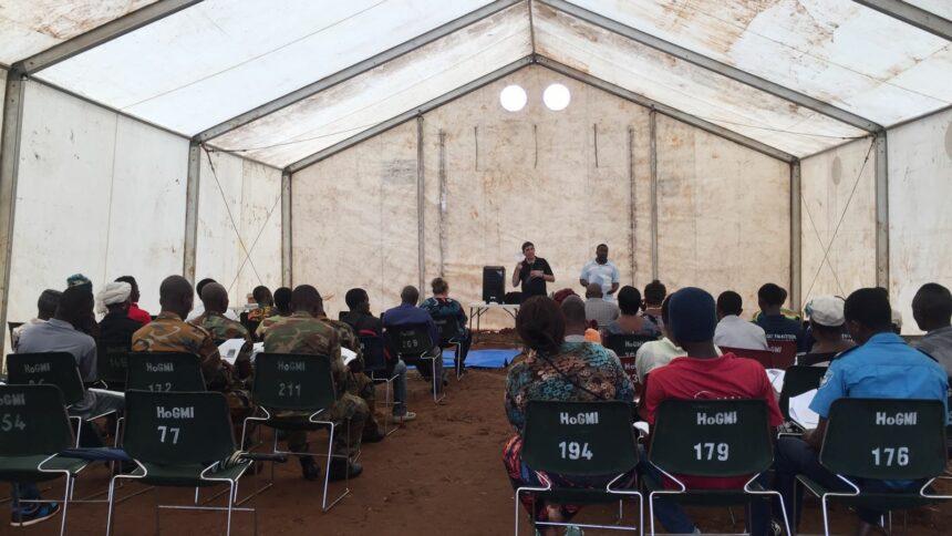 Paul teaching in tent