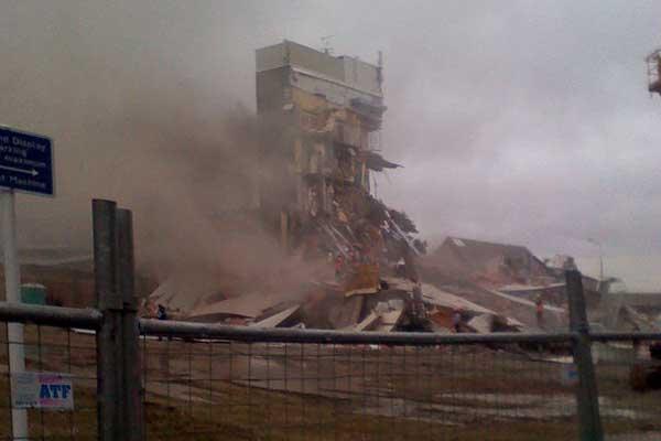 Damaged building Christchurch